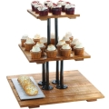 Rental store for TRAY, CUPCAKE 3 TIER SQ WOOD METAL in Helena MT
