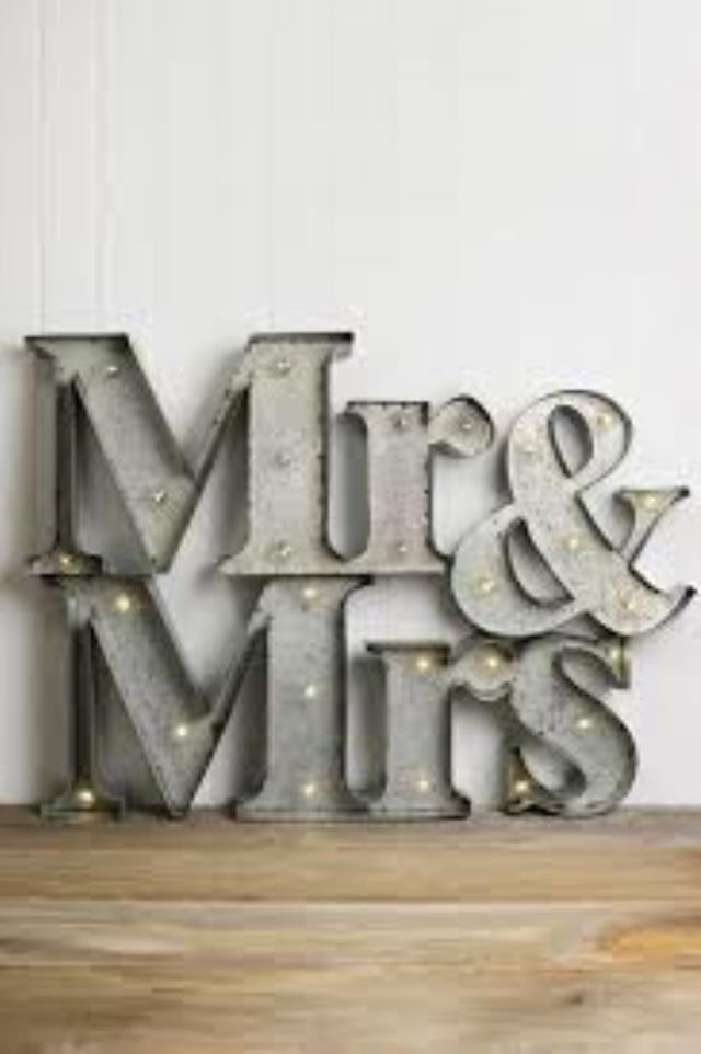 Where to find MARQUEE LETTERS, MR   MRS SLVR in Helena